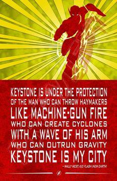 Kid Flash quote. Wally West. The Flash. Justice League. Teen Titans. Young Justice. DC Comics