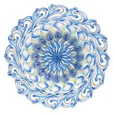 Het vijfde - Keel - chakra, dat je helpt je woorden te kiezen en liefdevol uit te spreken.
