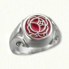signet rose ring. utena