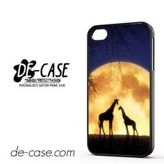 Giraffes Romantic Moon DEAL-4673 Apple Phonecase Cover For Iphone 4 / Iphone 4S