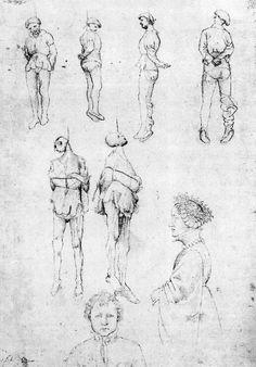 Pisanello, hanged men.