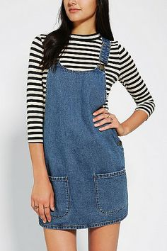 Cooperative Front Pocket Overall Dress