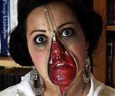 Zipper Face Costume.