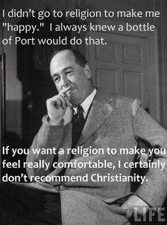 """C.S. Lewis on """"happy"""" Christianity"""