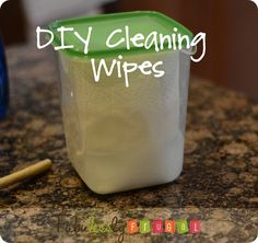 Don't waste money on cleaning wipes when you can so easily make your own at home! http://fabulesslyfrugal.com/2012/05/diy-cleaning-wipes.html