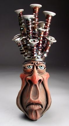 Mitchell Grafton - Face Jug King Ceramic