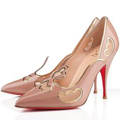 Christian Louboutin Indies Patent Leather Pumps 120mm Nude