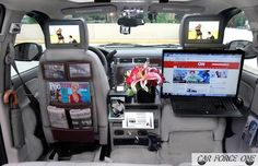 The Car Force One is an ultra high-tech cab that will take you to your destination in the New York area. Radios, Air Force One, Firefighter Gear, Jeep Commander, Car Office, Mobile Office, Car Gadgets, Car Storage, Space Saving Furniture