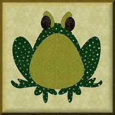frog applique pattern free - Google Search