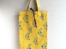 Sub bag (ブルーの鳥*イエロー)