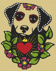 Modern Cross Stitch Kit 'Rose Red' By Illustrated by GeckoRouge, #crossstitch