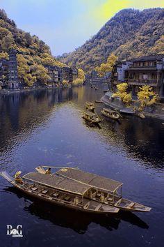 old phoenix city Hunan province, China   old phoenix city 5 by brambog
