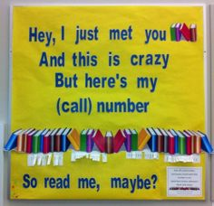 Read me, maybe? Library humor!
