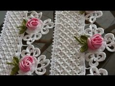 Ideas for crochet lace curtains pattern yarns Crochet Boarders, Crochet Edging Patterns, Crochet Lace Edging, Crochet Motifs, Crochet Designs, Crochet Doilies, Crochet Flowers, Crochet Stitches, Filet Crochet
