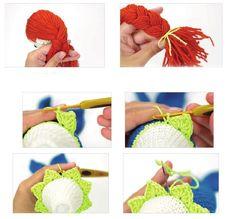 DENİZKIZI Booties Crochet, Crochet Hats, Amigurumi For Beginners, Amigurumi Tutorial, Amigurumi Toys, Diy Toys, Crochet Projects, Crochet Bikini, Totoro