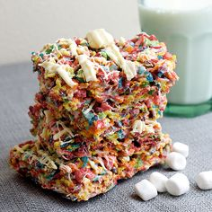 Easter Desserts – Fruity Pebble Rice Crispy Treats Recipe