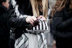 El clutch transparente de Zara