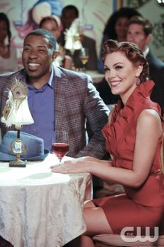 "Hart of Dixie -- ""Star of the Show"" -- Image Number: HA310b_1293b.jpg -- Pictured (L-R): Cress Williams as Lavon and Kaitlyn Black as Annabeth -- Photo: Robert Voets/The CW -- © 2013 The CW Network, LLC. All rights reserved."