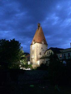 Freistadt bei Nacht - Linzertor Museum, Kirchen, Barcelona Cathedral, Travel, Night, Culture, Viajes, Kunst, Destinations