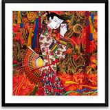 Art of Silk ~ A Song to Toast ~ Hand Designed Silk Art, Silk Embroidery