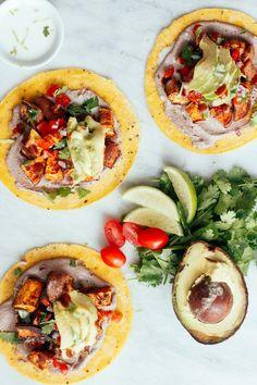 Sweet Potato Pecan Tacos recipe | Nutrition Stripped #vegetarian #glutenfree #tacotuesday