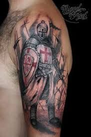 Discover Knight Templar Warrior T-Shirt from Knight Templar Online, a custom product made just for you by Teespring. - Beautiful and quality Knight Templar. Dad Tattoos, Life Tattoos, Body Art Tattoos, Sleeve Tattoos, Tattoos For Guys, Cool Tattoos, Irish Tattoos, Templar Knight Tattoo, Armor Of God Tattoo