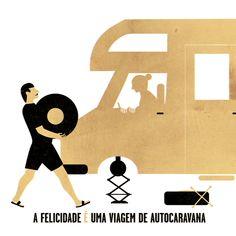 ANDRE DA LOBA Illustrators, Road Trip, Wall Art, Happy, Editorial, Home Decor, Rv Travel, Happiness, Historia