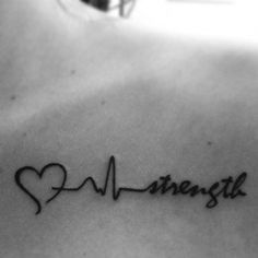 Tattoo Ideas, Tattoos Over Scar, Strenght Tattoo, Collar Bone Tattoo ...