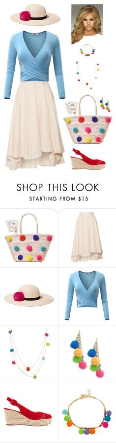 """Pom Poms on the Beach"" by kateindie ❤ liked on Polyvore featuring Miguelina, Eugenia Kim, Rebecca Minkoff, Design Lab and Paloma Barceló"