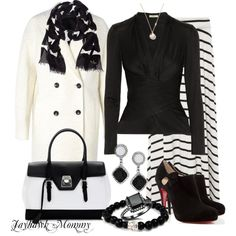"""""""A Little Class in Black & White"""" by jayhawkmommy on Polyvore"""