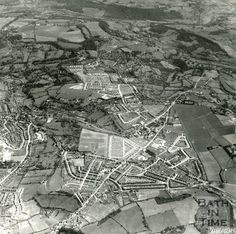 1954 Aerial view of Odd Down, Combe Down, Foxhill, Bath