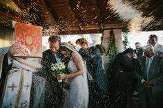 The madly in love couple wanted to have their wedding ceremony in the adorable little chapel on the island that was named Eros when the Greek Tourism Organization used the image of the heart shaped islet in their marketing campaign for Greece. http://www.love4wed.com/destination-wedding-greece-eros/