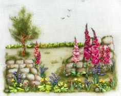 Stonewall Silk ribbon embroidery
