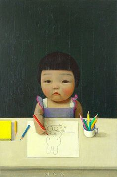felixinclusis:    mosdeffa: 'Small Painter' by Liu Ye.