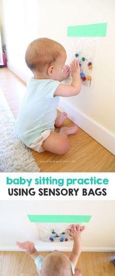 Un sac sensoriel pour stimuler bébé
