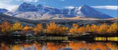 the massif seen from across lake Atna (Alaska) Land Of Midnight Sun, Natural World, Wonders Of The World, Norway, Alaska, Natural Beauty, National Parks, Europe, Mountains