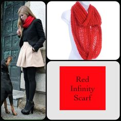 Red Sequin Infinity Scarf This gorgeous scarf features tune red sequins that give it the perfect shimmer. Just a pretty touch. 100% Acrylic. Soft yarn, pretty style! (This closet does not trade or use PayPal) Accessories Scarves & Wraps