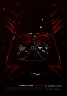 Darth Vader - Star Wars Tribute via Luke Skywalker, Chewbacca, Star Wars Dark Side, Starwars, Dark Vader, Fanart, Vader Star Wars, Tribute, Poster Series