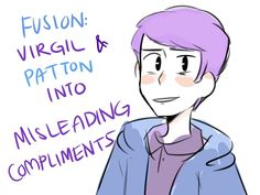 ehhhhhhhh from the reblogs of the last thomas sanders thing I posted, most people said that the Narrator really reminded them of Logan and Roman and soo o i had the idea of fusions i guess??? And...