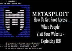 Metasploit Exploiting IE8-