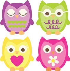 Silhouette Online Store: 4 owl set  Visit & Like our Facebook page: https://www.facebook.com/pages/Rustic-Farmhouse-Decor