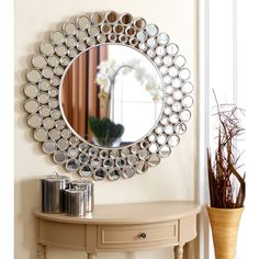 ABBYSON LIVING Wilshire Round Wall Mirror 35' $270.99