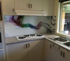 Printed Glass Splashbacks, Custom Design, Kitchen Cabinets, Prints, Home Decor, Decoration Home, Room Decor, Cabinets, Home Interior Design