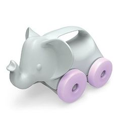 For Alice Amazon.com: Green Toys Elephant-on-Wheels, Grey/Purple: Toys & Games