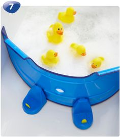 BabyDam. A barrier for in the bath so you don't have to use so much water when bathing your baby/child. Fantastic invention! That is something I will definitely buy as I have always wondered about having to fill up an entire bath with water for such a little person!