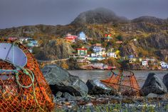 Crab pots and the Battery , St. John's , Newfoundland by lyndon keating, via Flickr