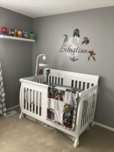 Your baby boy deserves to be spoiled with a perfect nursery. Discover our baby boy nursery ideas, decor, paints & themes that will inspire you. Baby Boy Nursery Themes, Baby Boy Rooms, Baby Boy Nurseries, Nursery Ideas, Superhero Baby Nursery, Room Baby, Avengers Nursery, Marvel Nursery, Baby Boys
