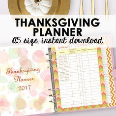 Thanksgiving Planner Printable Holiday Planner A5, Thanksgiving Binder A5, Printable Holiday Binder Printables, Letter Size Instant Download https://www.etsy.com/listing/535039738