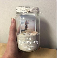 Our Honeymoon Picture Frame Sand Jar Polaroid Memory Box Mason Jar Beach Vacation Just . - awesome Our Honeymoon Picture Frame Sand Jar Polaroid Memory Box Mason Jar Beach Vacation Jus - Memories Box, Wedding Ceremony, Our Wedding, Dream Wedding, Wedding Beach, Beach Weddings, Pot Mason, Mason Jars, Honeymoon Pictures