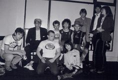 Stiv Bators hanging out with Gang of Four